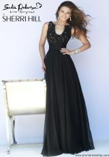 Sherri Hill 32011.  Available in Black/Nude