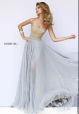 Sherri Hill 32143.  Available in Blue, Green, Navy, Purple, Silver, Teal, Yellow