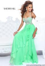Sherri Hill 3836.  Available in Green