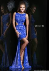 Sherri Hill 4324.  Available in Black, Royal