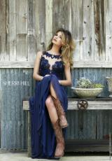Sherri Hill 5207.  Available in Ivory, Navy, Red, Teal