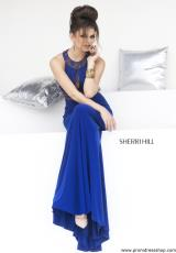 Sherri Hill 11173.  Available in Black/Multi, Ivory/Multi, Royal