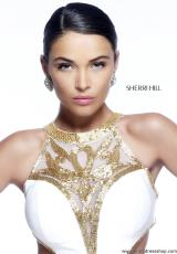 Sherri Hill 11124.  Available in Black, Ivory/Gold, Red/Black, Red/Red, Royal