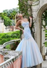 Sherri Hill 11155.  Available in Blue/Nude, Blush/Nude, Green/Nude, Red/Nude