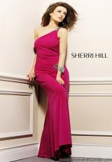 Asymmetrical 2012 Sherri Hill Fitted Long Dress