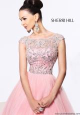 Sherri Hill 2984.  Available in Aqua/Silver, Black/Silver, Navy/Multi
