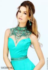 Sherri Hill 32144.  Available in Black/Emerald, Blush, Emerald, Fuchsia, Ivory, Red, Royal