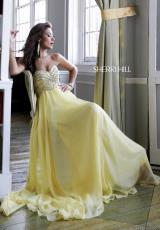 Sherri Hill 3908.  Available in Coral, Light Purple, Royal, Strawberry, Yellow