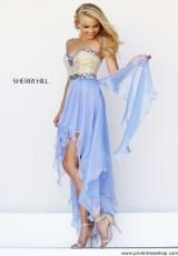 Sherri Hill Short 1920.  Available in Blue, Light Green, Nude, Peach, Periwinkle, Pink, Red, White, Yellow