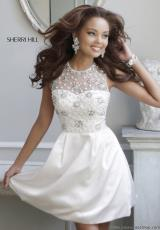 2014 Sherri Hill Short Beaded Prom Dress 21323