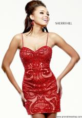 Two Straps 2015 Sherri Hill Short Homecoming Dress 41001