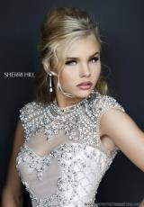 Sherri Hill Short 4304.  Available in Black, Nude
