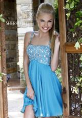 Sherri Hill Short 11049.  Available in Turquoise