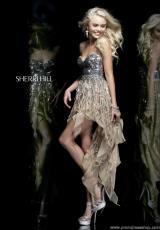 2014 Sherri Hill Short High Low Prom Dress 1922