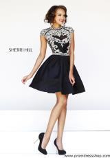Sherri Hill Short 4300.  Available in Black, Ivory, Light Blue