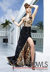 Tony Bowls Evenings TBE11255.  Available in Black/Leopard