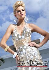 Tony Bowls Evenings TBE11264.  Available in Gold/Multi