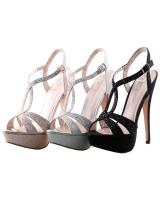 Blossom-Footwear Vice-123.  Available in Nude Sparkle, Silver Sparkle