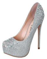 Blossom-Footwear Vinci-15A.  Available in Gold Sparkle, Silver Sparkle