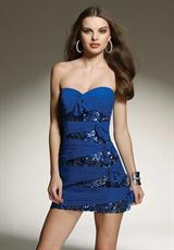 Mori Lee Sticks & Stones 9143.  Available in Black, Red, Royal
