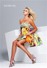 Sherri Hill Short 9230.  Available in Digital Print