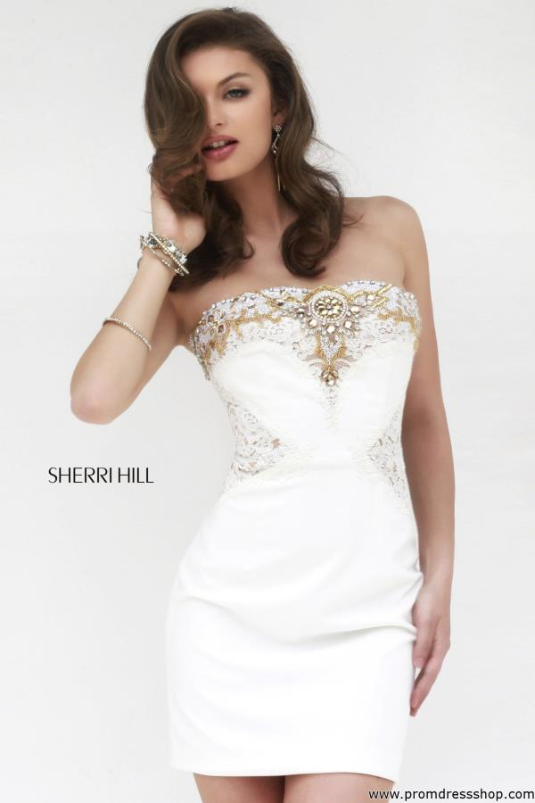 Sherri Hill Fitted Short Dress 32032