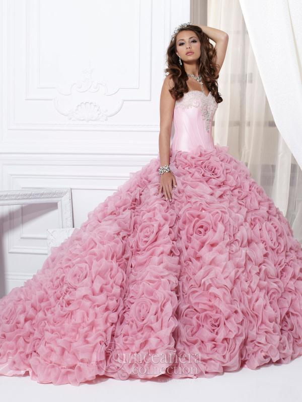 Rosette Ball Gown Tiffany Quince Dress 26702