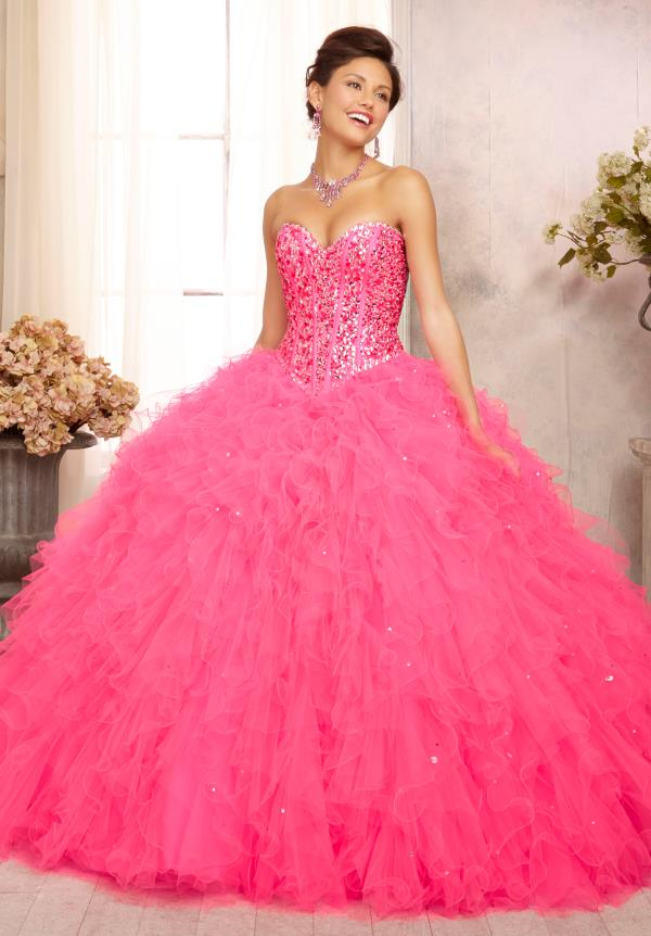 Vizcaya Quinceanera Beaded Lime Dress 88087