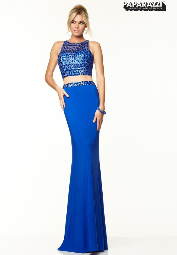 Mori Lee High Neckline Dress 97004