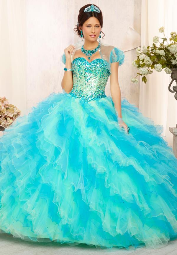 Vizcaya Quinceanera Lace Back Dress 88090