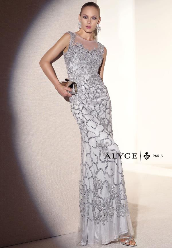 Alyce Paris Long Fitted Dress 5670