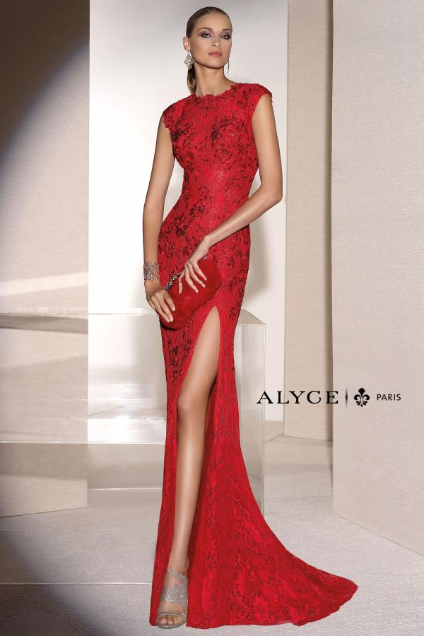 Long Fitted Alyce Paris Dress 5677