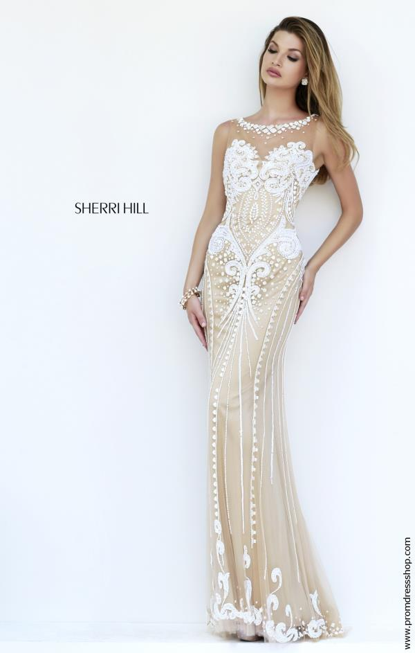 Sherri Hill Fitted High Illusion Dress 9737