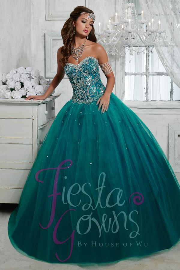 Tiffany Quince Tulle Ball Gown Dress 56264