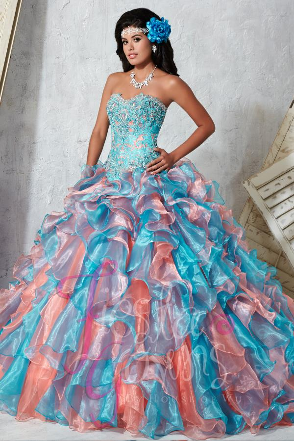 Tiffany Quince Colorful Ball Gown 56272