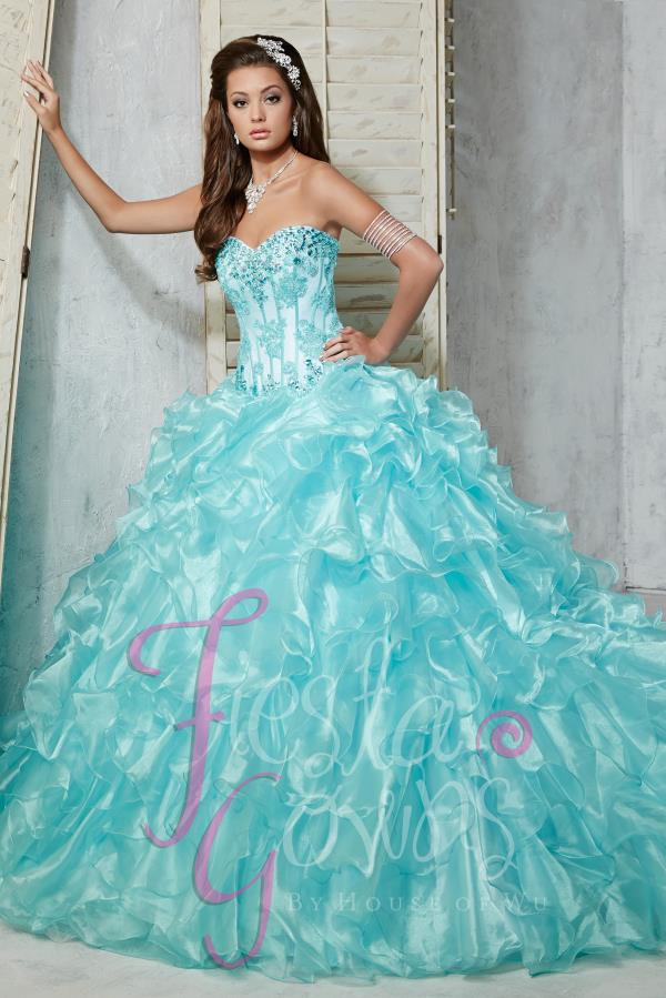 Tiffany Quince Beaded Corset Dress 56273