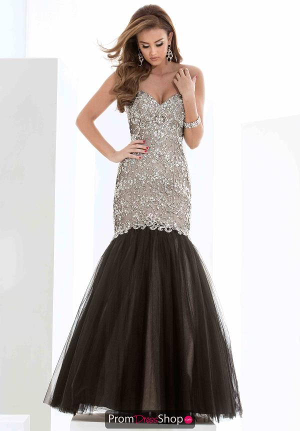 Strapless Beaded Jasz Couture Dress 5606