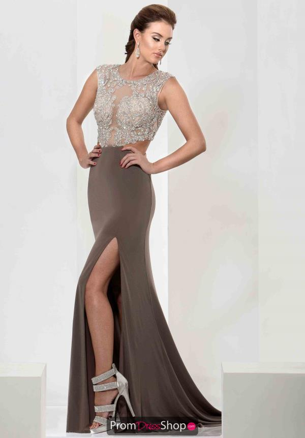 Jasz Couture Fitted Jersey Dress 5641