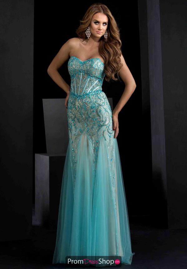 Sweetheart Neckline Beaded Jasz Couture Dress 5648