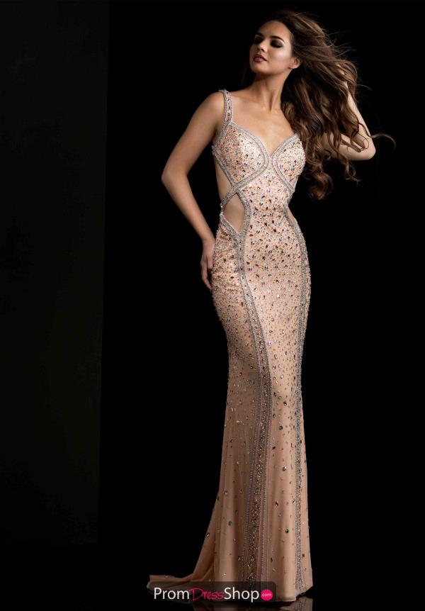 Jasz Couture Cut Out Sexy Beaded Dress 5671