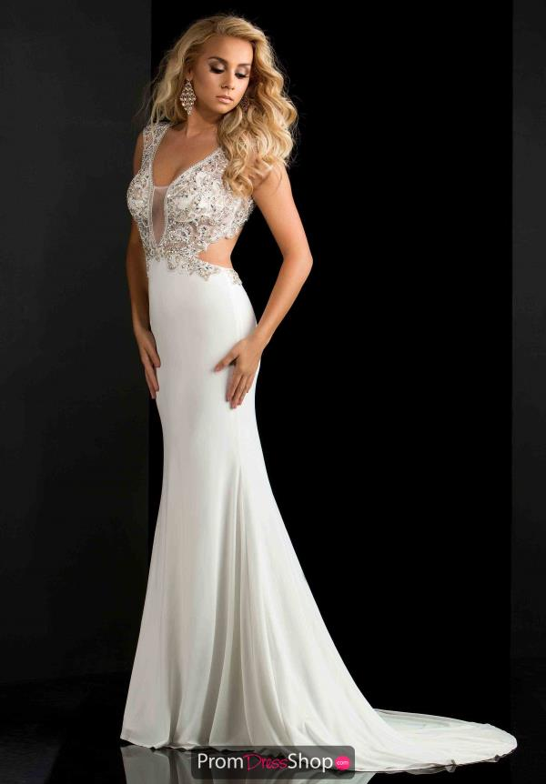 Cap Sleeved Beaded Jasz Couture Dress 5678