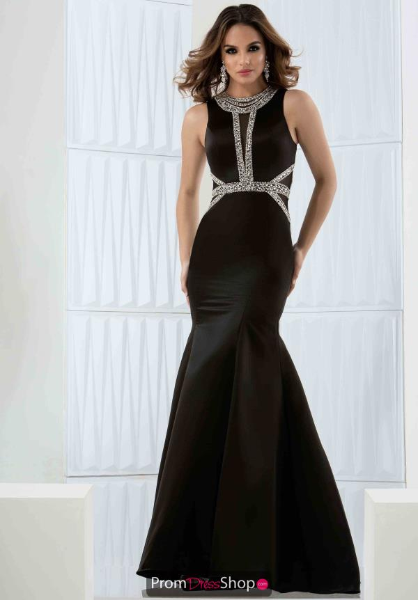 Black Fitted Jasz Couture Dress 5755