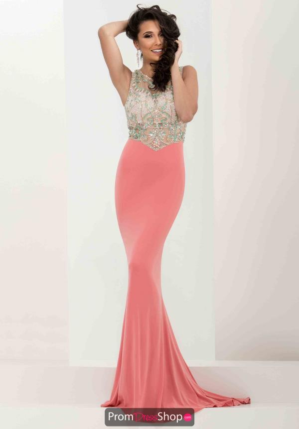 Sexy Jasz Couture Coral Dress 5767
