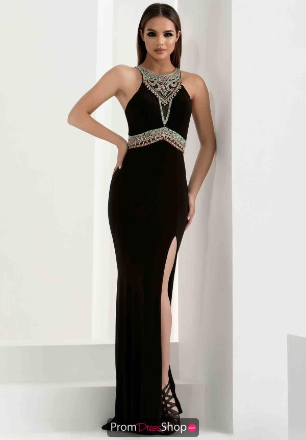 Beaded Halter Top Jasz Couture Dress 5768