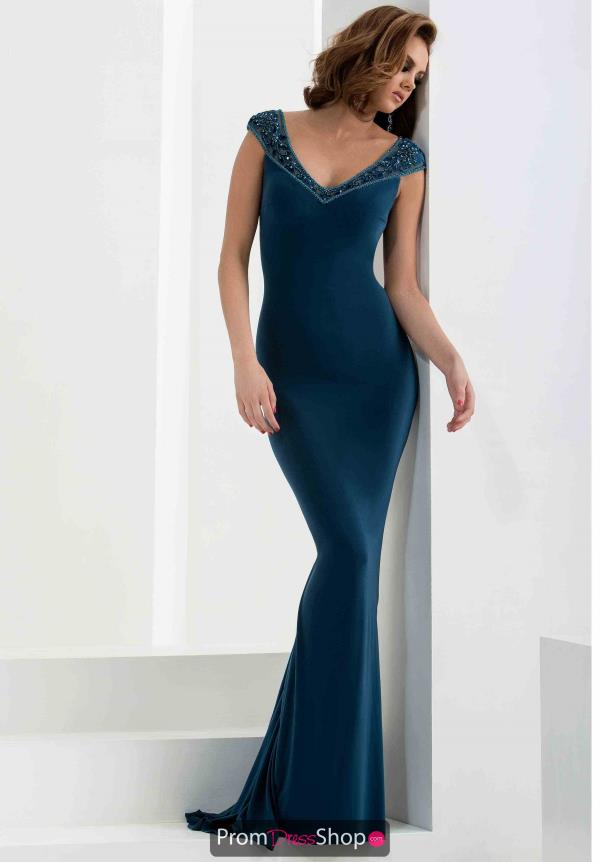Jasz Couture Long Jersey Dress 5773