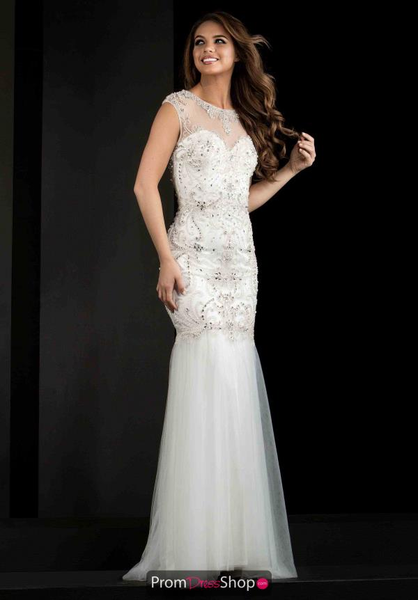 Jasz Couture Sleeved Fitted Dress 5782