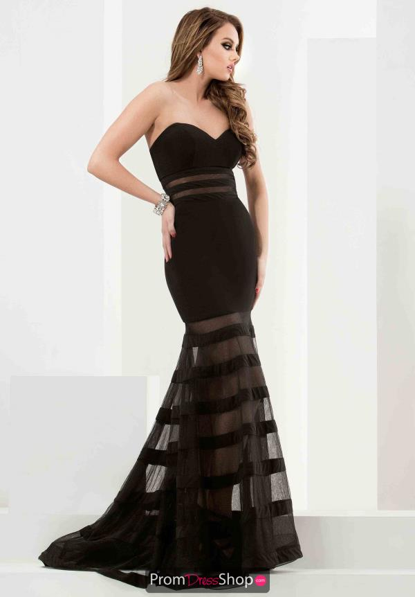 Jasz Couture Long Jersey Dress 5797