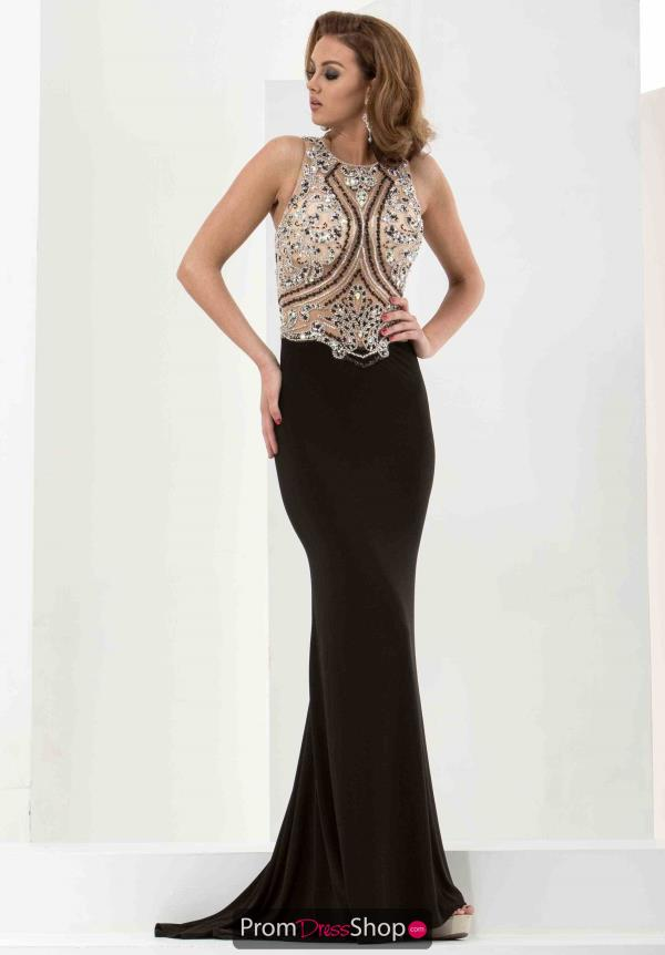 Jasz Couture Jersey Fitted Dress 5810