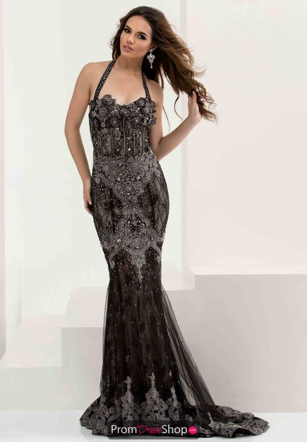 Jasz Couture Fitted Lace Dress 5817