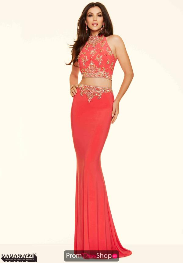Mori Lee Sexy Two Piece Jersey Dress 98004